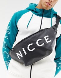 Nicce London Bum Bag In Black With Logo