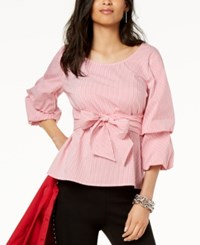 Inc International Concepts I.N.C. Striped Tiered Sleeve Shirt Created For Macy's