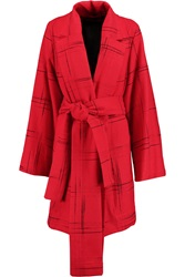Vivienne Westwood Discovery Embroidered Wool Blend Coat