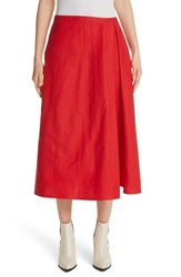 Sofie D'hoore 'S Faux Wrap Skirt Red Pepper