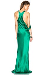 Ann Demeulemeester Silk Gown In Green