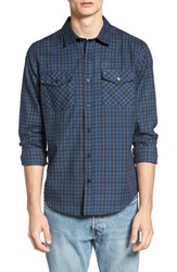 Hurley Men's Cascade Dri Fit Plaid Woven Shirt Obsidian