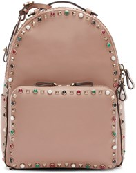 Valentino Tan Stone And Rockstud Guitar Backpack
