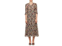 Masscob Mina Floral Cotton Midi Dress Multi