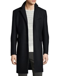 Rag And Bone Victor Wool Blend Long Coat Black Men's