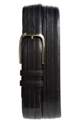 Mezlan Lizard Leather Belt Black