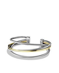 Crossover Three Row Cuff With Gold David Yurman