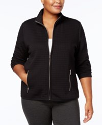 Karen Scott Plus Size Quilted Jacket Created For Macy's Intrepid Blue
