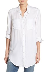 Women's Bp. Woven Twill Tunic White