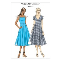 Vogue Very Easy Women's A Line Dress Sewing Pattern 9101