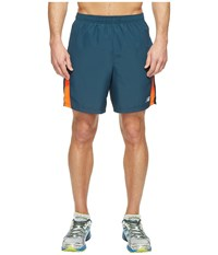New Balance Accelerate 7 Short Alpha Orange Supercell Men's Shorts Blue