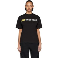Aries Black New Balance Edition Logo T Shirt