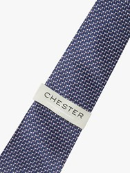 Chester Barrie By Triangle Pattern Silk Tie Multi