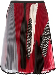 Antonio Marras Patchwork Pleated Skirt Red