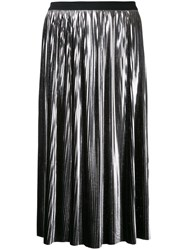 Jil Sander Pleated Skirt Metallic