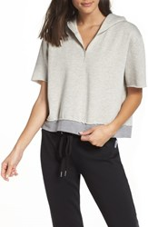 The Laundry Room Bitty Crop Hoodie Pebble Heather
