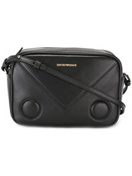 Emporio Armani Embossed Logo Cross Body Bag Black