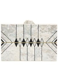Nathalie Trad Zero Ii Mother Of Pearl Clutch White