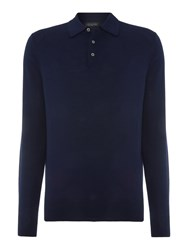 Chester Barrie Merino Polo Shirt Midnight