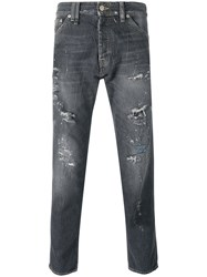 Cycle Splattered Jeans Men Cotton 36 Grey