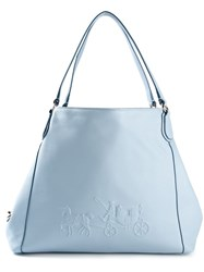 Coach 'Horse And Carriage Charley' Shoulder Bag Blue