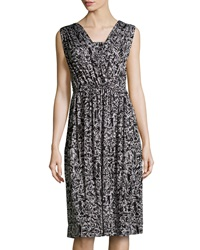 Rachel Pally Splatter Print Ruched Midi Dress Moonbeam