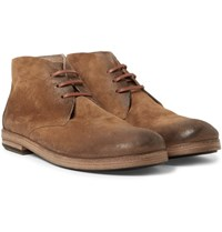 Marsell Washed Suede Chukka Boots Tan
