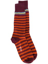 Paul Smith Striped Socks Red