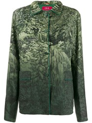 F.R.S For Restless Sleepers Gradient Nature Jacket Green