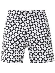 Amir Slama Geometric Print Swim Short Black