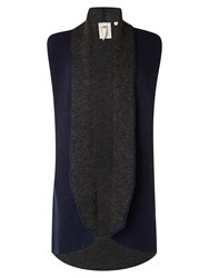White Stuff Book End Reversable Cardi Navy
