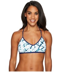 Carve Designs Catalina Bikini Top Aqua Bahama Swimwear White