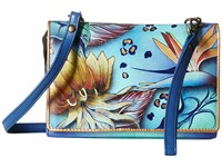 Anuschka 1128 Tropical Dream Cross Body Handbags Blue