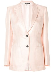 Tom Ford Buttoned Up Jacket Pink And Purple