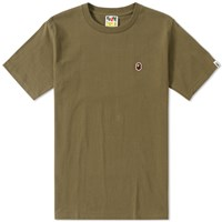 A Bathing Ape Bape Head Patch Tee Green