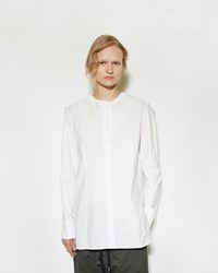 Marni Split Neck Shirt White Stripe