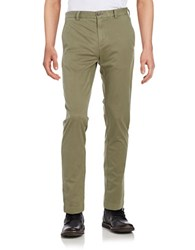 Brooks Brothers Cotton Stretch Chino Pants Green