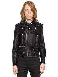 Saint Laurent Classic Leather Biker Jacket Black