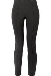 The Row Cosso Stretch Cotton Blend Skinny Pants Black