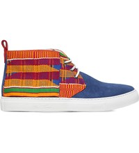 Del Toro Aztec Suede Chukka Trainers Blue Other