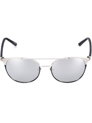 Linda Farrow Mirrored Sunglasses Metallic