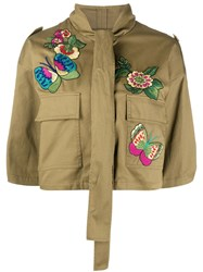 Red Valentino Redvalentino Bird Of Paradise Embroidered Jacket 60