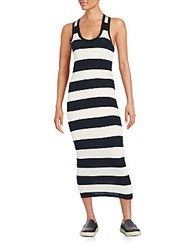 James Perse Striped Racerback Maxi Dress Natural Black