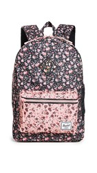 Herschel Supply Co. Heritage Youth Backpack Multi Ditsy Floral Flamingo Pi