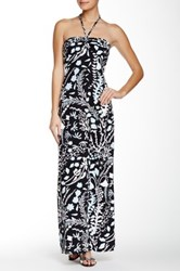 J.Mclaughlin Mykonos Braid Tie Halter Maxi Dress Multi