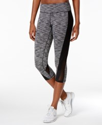 Ideology Spaced Dyed Mesh Cropped Leggings Only At Macy's Noir