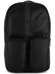 Armani Jeans Pocketed Backpack Black
