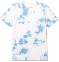 Mollusk Tie Dyed Cotton Jersey T Shirt Light Blue