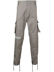Gcds Structured Cargo Trousers Grey