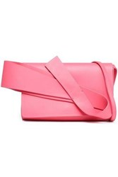 Delpozo Bow Embellished Leather Shoulder Bag Bubblegum